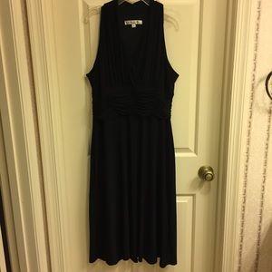 Evan-Picone black halter dress, below knee, 12